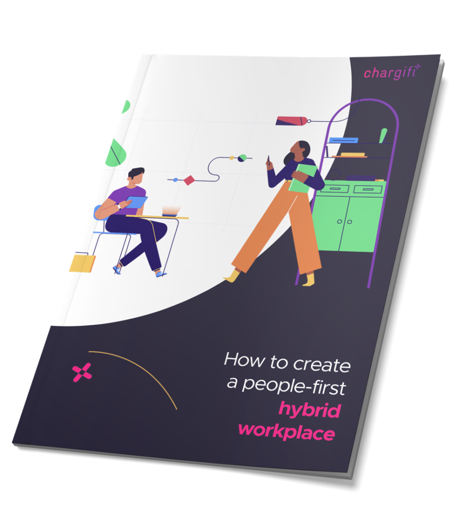 Cover of guide to creating a hybrid workplace